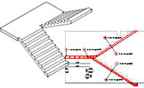 Graitec exemples advance concrete for Escalier avec palier intermediaire
