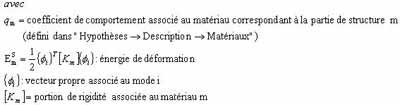 Comment définir un coefficient de comportement moyen dans Effel Structure à partir des énergies de déformation
