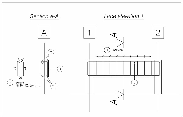 How can we set a certain line thickness for the reinforcing bars