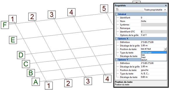 Comment définir une grille dans Advance Structure