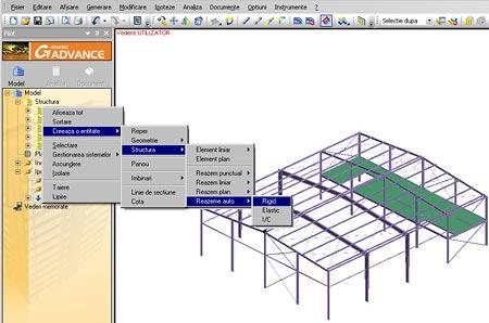 Cum pot crea reazeme in mod automat la baza structurii