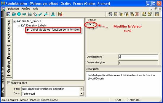 Comment activer la fonction 'Ajouter un label' sur la version 2010
