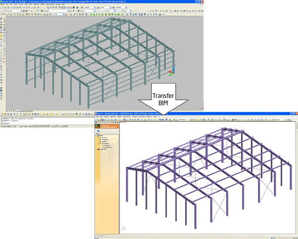 Cum se utilizează tehnologia BIM intre Advance Design şi Advance Metal