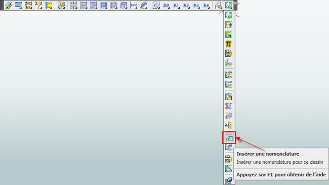 Comment utiliser les nouvelles listes sur les plans de  fabrication