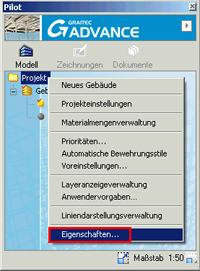 Wie können die Projektdaten in den Plankopf  und Stücklisten übernommen werden