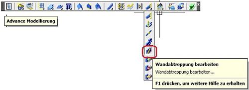 Wie wird eine Wandabtreppung definiert?
