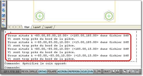 Comment contrôler la pince par défaut pour les trous dans les fichiers DSTV