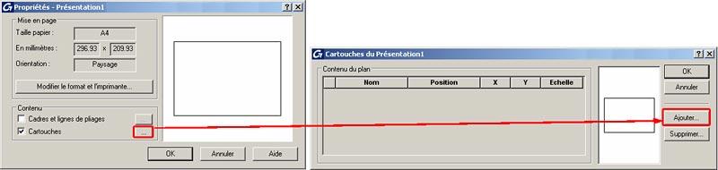 Comment définir les paramètres d'un Cartouche sur Advance Béton