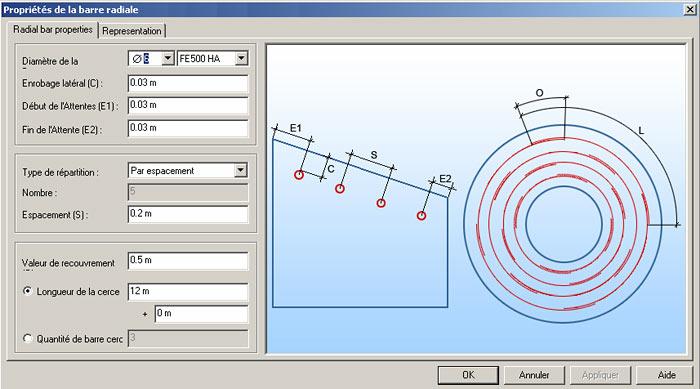 Comment utiliser le ferraillage radial