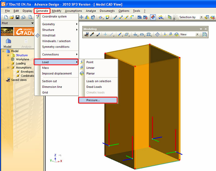 How can we automatically design the soil pressure over a wall