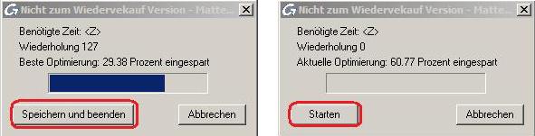 Wie kann ich in einer Bewehrungszeichnung, die mit Matten erstellt worden ist, in Advance Concrete den Befehl 'Automatische Optimierung der Mattenreste' anwenden