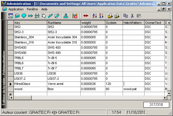 Comment ajouter un nouveau Matériau  dans la base de données