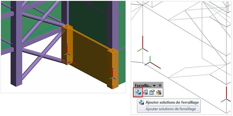 Comment appliquer une solution de ferraillage dynamique dans Advance Design