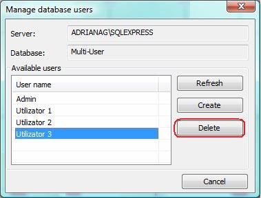 Cum se gestionează utilizatorii unei baze de date multi-user
