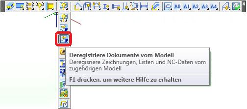 Wie werden Dokumente am Modell registriert
