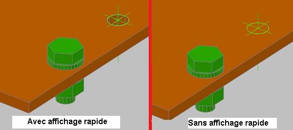 Affichage Rapide - mode rendu AutoCAD