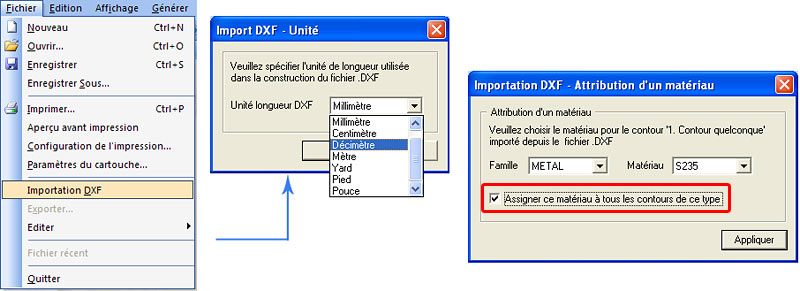 Comment créer une section utilisateur en utilisant le programme de calcul de section