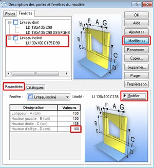 Comment créer un linteau incliné sur Advance Concrete