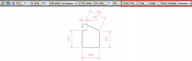 Comment modifier l'épaisseur de la ligne de répartition et le schéma de façonnage sur Advance Concrete