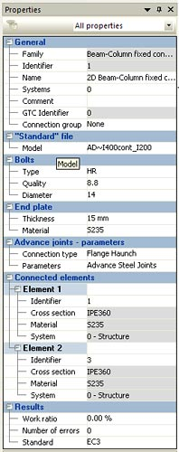 How is a steel joint defined and calculated