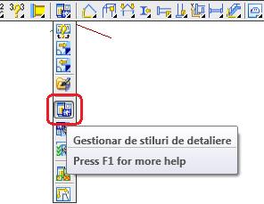Cum se configurează un stil de detaliere pentru a permite detalierea grătarelor