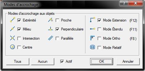 Comment utiliser les modes d'accrochage dans Advance Design