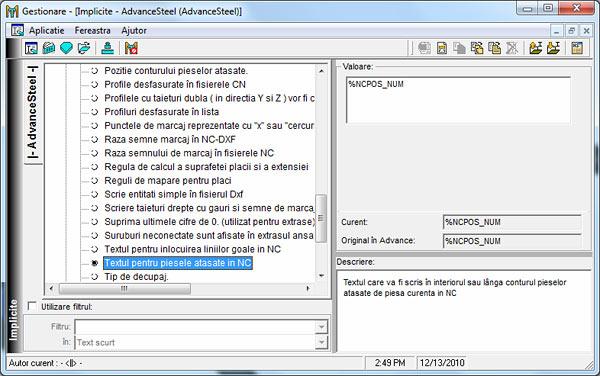 Cum se utilizează opţiunea 'Scribing' în fişierele NC şi DXF