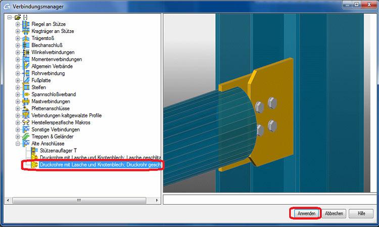 Wie können weitere Anschlüsse in den Verbindungsmanager integriert werden