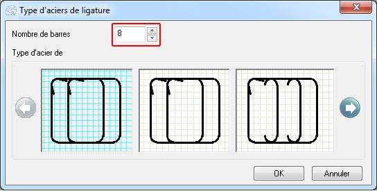 Comment créer le ferraillage d'une section prédéfinie rectangulaire
