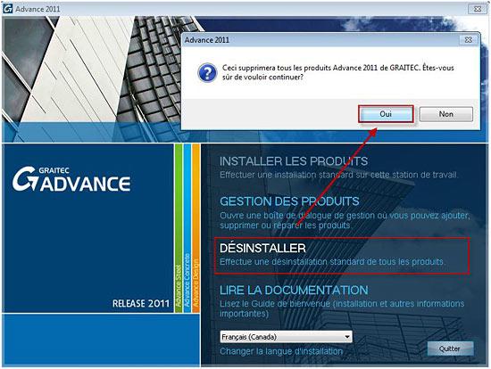 Comment réinstaller Advance Steel 2011 dans une autre langue ?