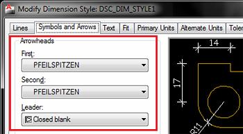 Cum se modifică stilul de cotare folosit de liniile indicatoare sau cote