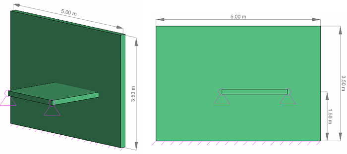 How  is a slab with hinged boundary designed