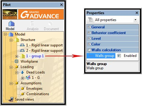 How are torsors on a walls group displayed in a user-defined coordinate system