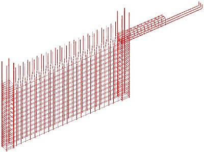 How is the display of the reinforcement of a dynamic reinforcement solution removed from a reinforcement drawing