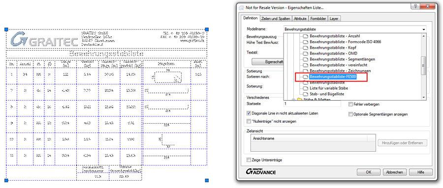 Wie wird ein Filter für eine Liste in Advance Concrete erzeugt?