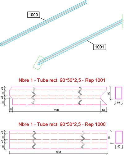Comment obtenir le développé d'un tube carré ou rectangulaire?