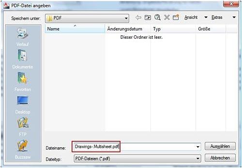 Wie erstellt man eine mehrseitige PDF-Datei aus mehreren Zeichnungen?