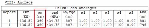 Eurocode 2 : Comment Arche Poutre calcule t-il le mandrin de cintrage d'une barre