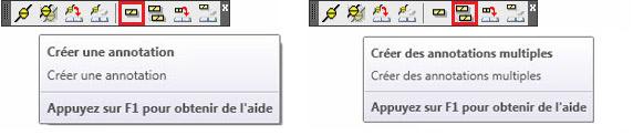 Comment ajouter des symboles / annotations  aux éléments de structure sur les vues de dessus/dessous