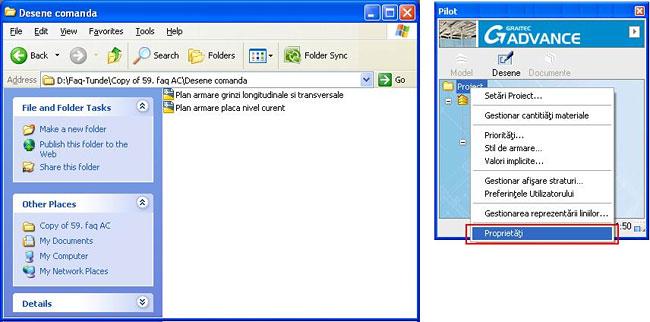 Cum se face comanda de materiale din două desene diferite în Advance Concrete
