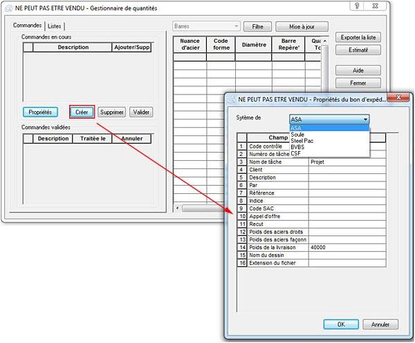 Comment effectuer une commande de matériau sur différents dessins dans Advance Conrete?