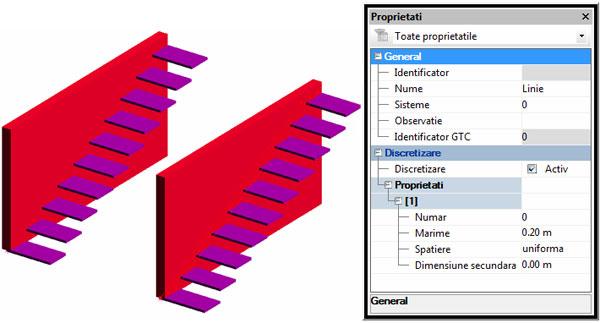 Cum se folosesc elementele geometrice pentru modificarea discretizării?