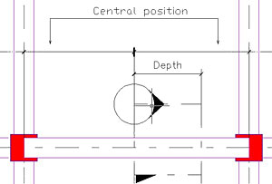 How are local sections for beams created in Advance Concrete