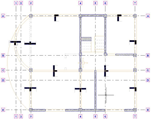 Wie werden örtliche Schnitte für Balken erzeugt ?