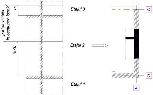 Cum se pot crea secţiuni locale pentru pereţi în Advance Concrete