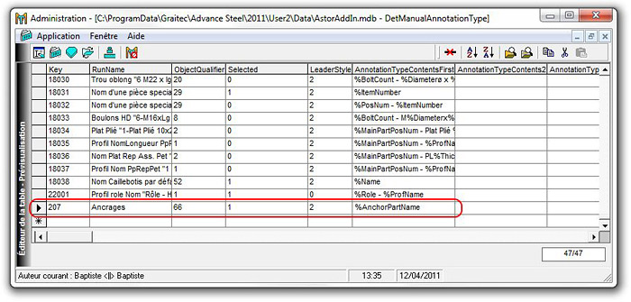 Comment ajouter le label « Ancrage » au gestionnaire de label sur Advance Steel 2011 ?