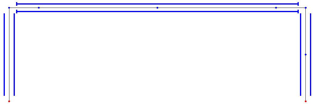 Pourquoi Arche Ossature affiche parfois un moment sous charges permanentes ou d'exploitation ?
