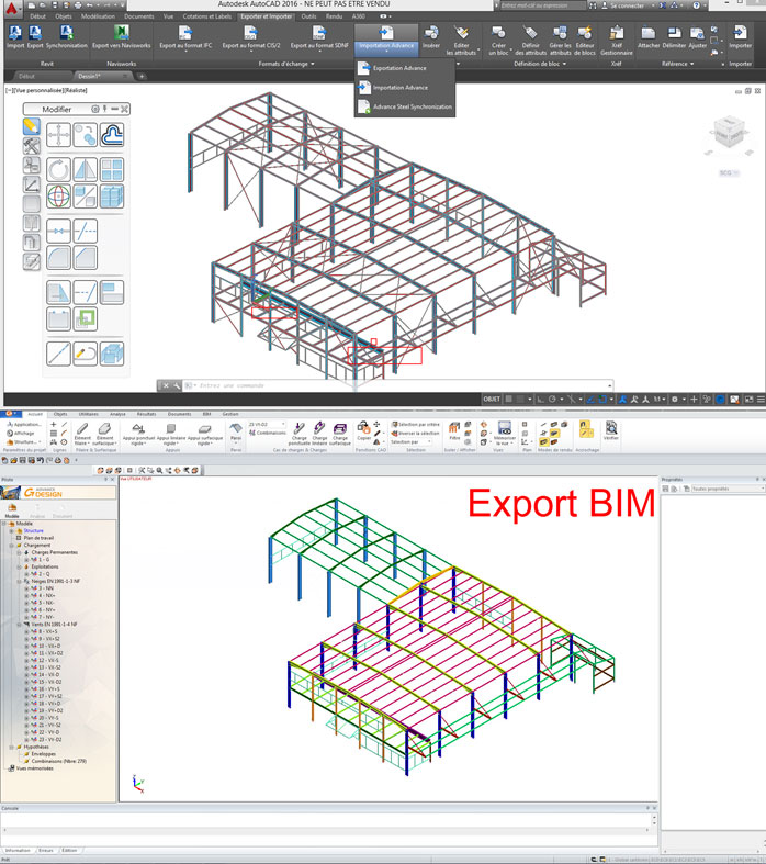 Comment fonctionne le transfert BIM entre Advance Design et Advance Steel?