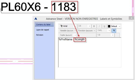 Comment définir les unités et la précision des labels sur les plans?