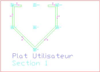 Comment obtenir le déplié d'une section utilisateur sur un plan de fabrication ?